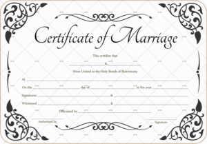 60+ Marriage Certificate Templates (Word   Pdf) Editable for Unique Marriage Certificate Editable Templates