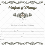 60+ Marriage Certificate Templates (Word | Pdf) Editable With Regard To Best Blank Marriage Certificate Template