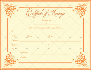 60+ Marriage Certificate Templates (Word | Pdf) Editable with regard to Marriage Certificate Template Word 10 Designs