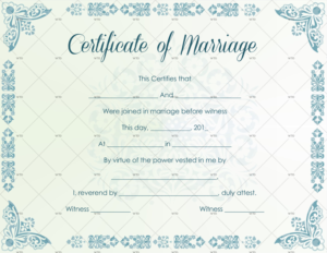 60+ Marriage Certificate Templates (Word   Pdf) Editable within Unique Marriage Certificate Editable Templates