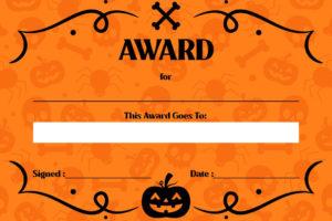 7 Best Free Printable Halloween Awards – Printablee for Best Costume Certificate Printable Free 9 Awards