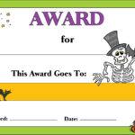 7 Best Free Printable Halloween Awards – Printablee Intended For Best Costume Certificate Printable Free 9 Awards