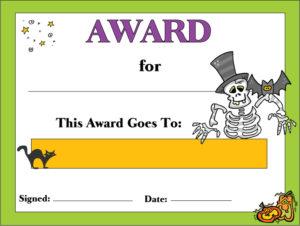 7 Best Free Printable Halloween Awards – Printablee intended for Halloween Certificate Template