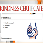7+ Certificate Of Kindness Free Printable [2020 Ideas] With Kindness Certificate Template 7 New Ideas Free