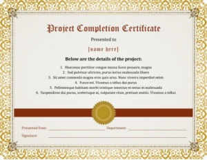 7 Certificates Of Completion Templates [Free Download] | Hloom for Quality Class Completion Certificate Template
