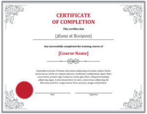 7 Certificates Of Completion Templates [Free Download] | Hloom intended for Quality Training Completion Certificate Template