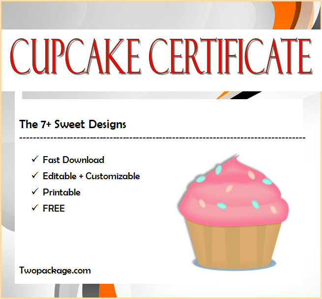 7+ Cupcake Wars Certificate Free Printables for Quality Cupcake Certificate Template Free 7 Sweet Designs