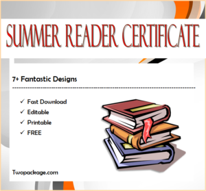 7+ Fantastic Summer Reading Certificate Templates Free regarding Summer Reading Certificate Printable
