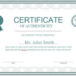 7 Free Sample Authenticity Certificate Templates – Printable In New Certificate Of Authenticity Free Template