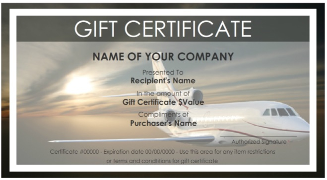 7 Free Sample Travel Gift Certificate Templates - Printable with Travel Gift Certificate Editable