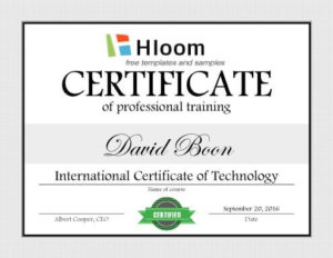 7 Training Certificate Templates [Free Download] | Hloom in Quality Template For Training Certificate
