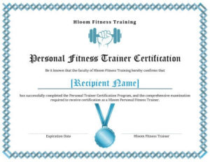 7 Training Certificate Templates [Free Download] | Hloom regarding Unique Physical Fitness Certificate Template Editable