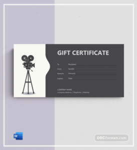 72+ Free Gift Certificate Templates – Word (Doc)   Pdf regarding Quality Restaurant Gift Certificate Template 2018 Best Designs