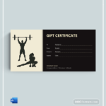 72+ Free Gift Certificate Templates – Word (Doc) | Pdf Within Fitness Gift Certificate Template