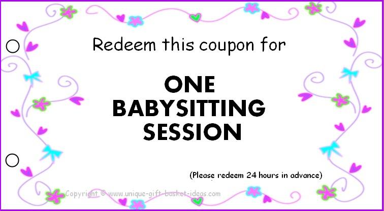 8 Best Printable Babysitting Voucher Template - Printablee regarding Free Printable Babysitting Gift Certificate