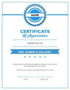 8 Free Printable Certificates Of Appreciation Templates | Hloom pertaining to Unique Employee Appreciation Certificate Template