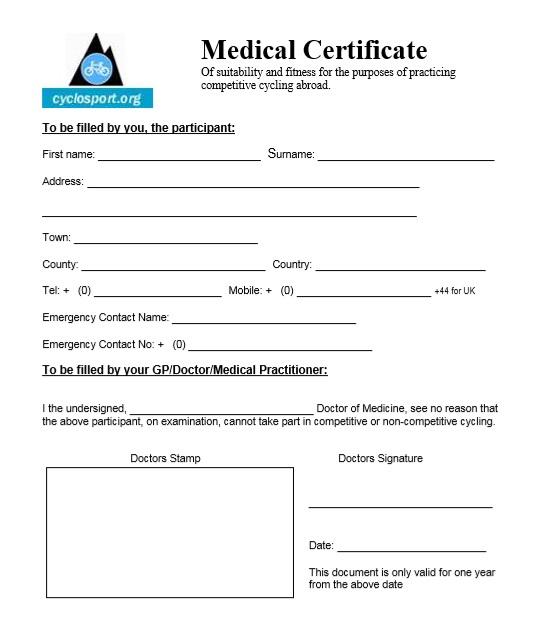 8 Free Sample Medical Certificate Templates - Printable Samples for Fake Medical Certificate Template Download
