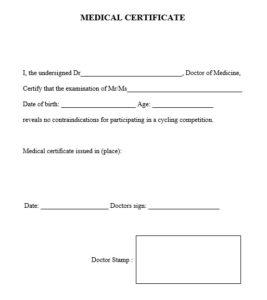 8 Free Sample Medical Certificate Templates – Printable Samples For Unique Australian Doctors Certificate Template