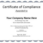8 Free Sample Professional Compliance Certificate Templates In Fresh Certificate Of Compliance Template
