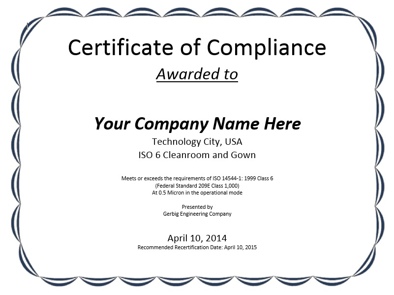 8 Free Sample Professional Compliance Certificate Templates regarding Certificate Of Compliance Template 10 Docs Free