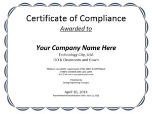8 Free Sample Professional Compliance Certificate Templates with Fresh Certificate Of Compliance Template
