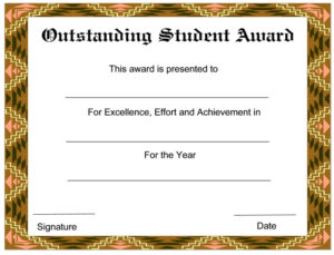 8+ Student Award Certificate Examples – Psd, Ai, Doc with Best Outstanding Student Leadership Certificate Template Free