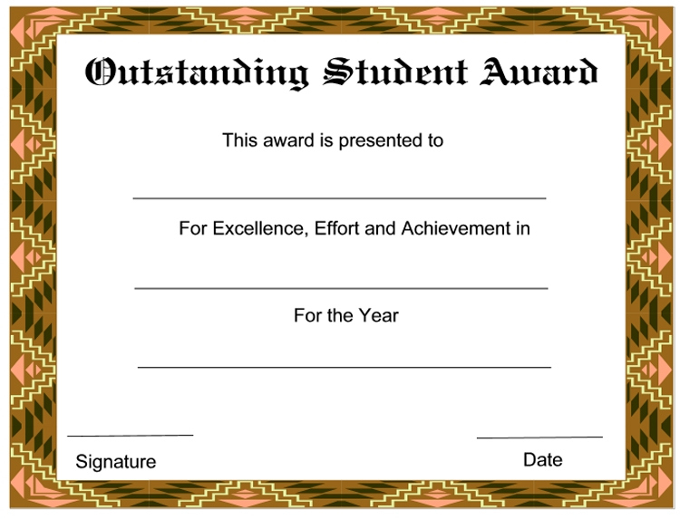 8+ Student Award Certificate Examples - Psd, Ai, Doc with Best Outstanding Student Leadership Certificate Template Free