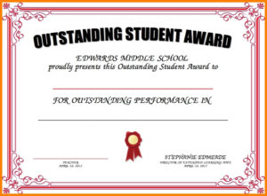 8+ Student Award Certificate Examples – Psd, Ai, Doc within Outstanding Student Leadership Certificate Template Free