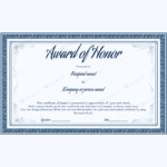 89+ Elegant Award Certificates For Business And School Events Pertaining To Fresh Honor Award Certificate Templates