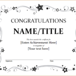 9+ Congratulation Certificate Templates | Free Printable throughout Unique Great Job Certificate Template Free 9 Design Awards