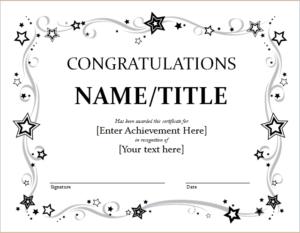 9+ Congratulation Certificate Templates   Free Printable with regard to Fresh 9 Math Achievement Certificate Template Ideas