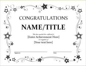 9+ Congratulation Certificate Templates | Free Printable With Regard To Kindness Certificate Template 7 New Ideas Free