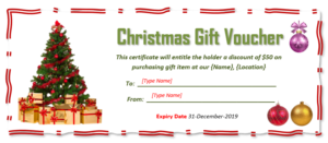 9 Free Christmas Gift Certificate Templates Using Ms Word throughout Free Christmas Gift Certificate Templates