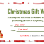 9 Free Christmas Gift Certificate Templates Using Ms Word With Regard To Best Christmas Gift Certificate Template Free