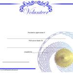 9 Free Sample Volunteer Certificate Templates – Printable In Volunteer Certificate Templates