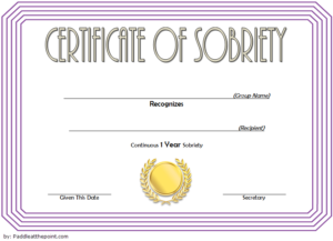 9 Sobriety Certificate Template Ideas | Certificate intended for Sobriety Certificate Template 10 Fresh Ideas Free