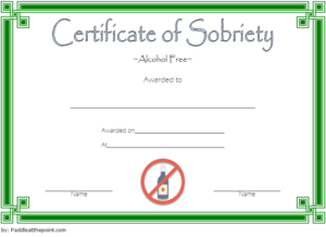 9 Sobriety Certificate Template Ideas | Certificate throughout Best Sobriety Certificate Template 10 Fresh Ideas Free