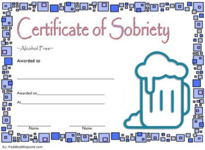 9 Sobriety Certificate Template Ideas | Certificate throughout Sobriety Certificate Template 10 Fresh Ideas Free