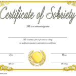 9 Sobriety Certificate Template Ideas | Certificate within Best Certificate Of Sobriety Template Free