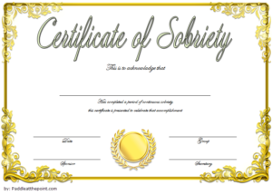 9 Sobriety Certificate Template Ideas | Certificate within Best Sobriety Certificate Template 10 Fresh Ideas Free