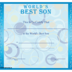 A Printable Certificate For A Mother Or Father To Present To inside Worlds Best Mom Certificate Printable 9 Meaningful Ideas