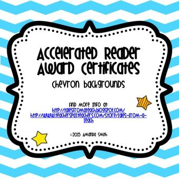 A.r. Award Certificates: Ready To Use Printables | Award For Accelerated Reader Certificate Template Free