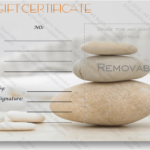 A Simple Day At The Spa Gift Certificate Template | Spa Gift Throughout New Free Spa Gift Certificate Templates For Word