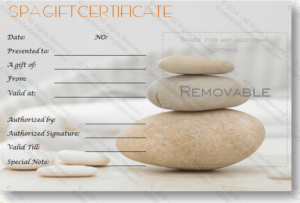 A Simple Day At The Spa Gift Certificate Template   Spa Gift throughout New Free Spa Gift Certificate Templates For Word