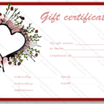 Abstract Heart Gift Certificate Template – Certificate Templates Intended For Valentine Gift Certificate Template