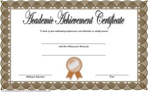 Academic Achievement Award Certificate Template Free 02 intended for Academic Achievement Certificate Template