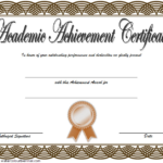 Academic Achievement Award Certificate Template Free 02 With Unique Certificate Of Academic Excellence Award