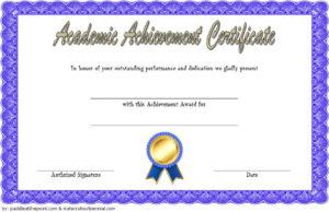 Academic Achievement Certificate Template 1 Free | Awards for Unique Academic Award Certificate Template