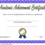 Academic Achievement Certificate Template 1 Free | Awards in Fresh Academic Achievement Certificate Template