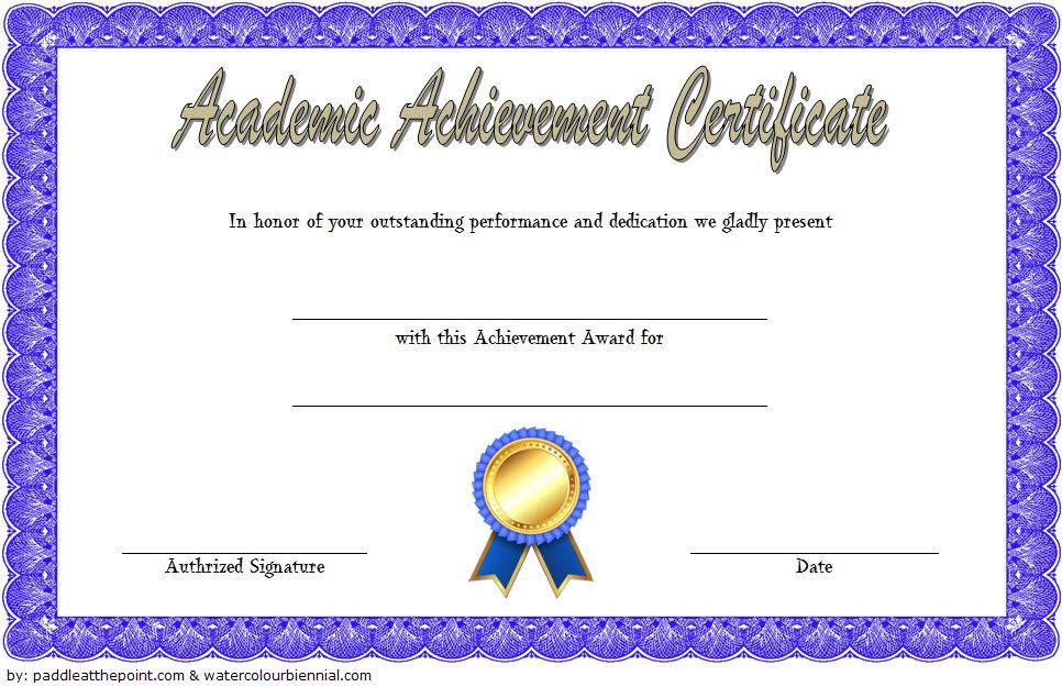 Academic Achievement Certificate Template 1 Free   Awards in Fresh Academic Achievement Certificate Template